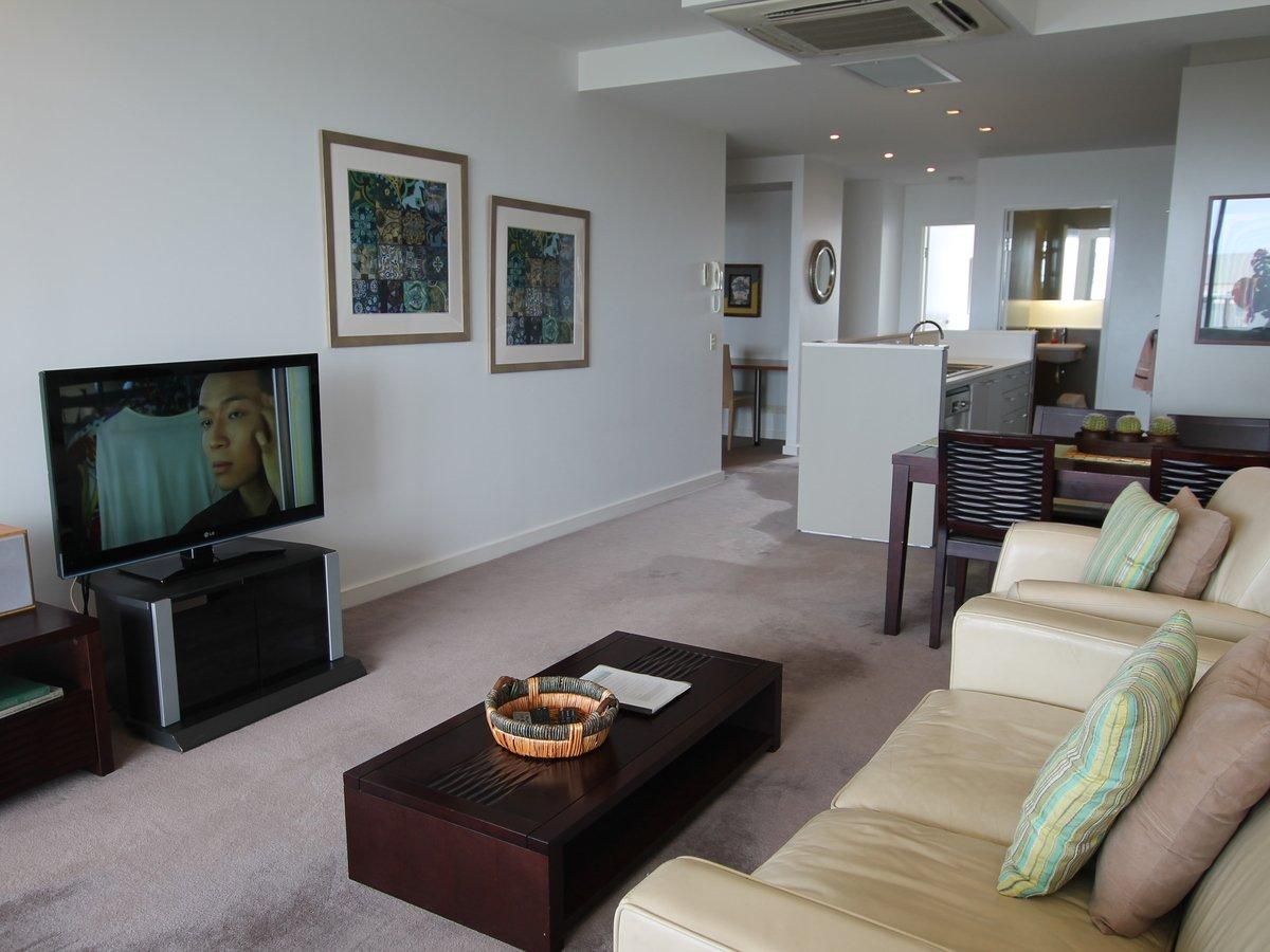 602 2s Honeysuckle Drive Newcastle Accommodation Living Room